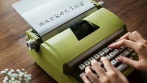 marketing typewritten