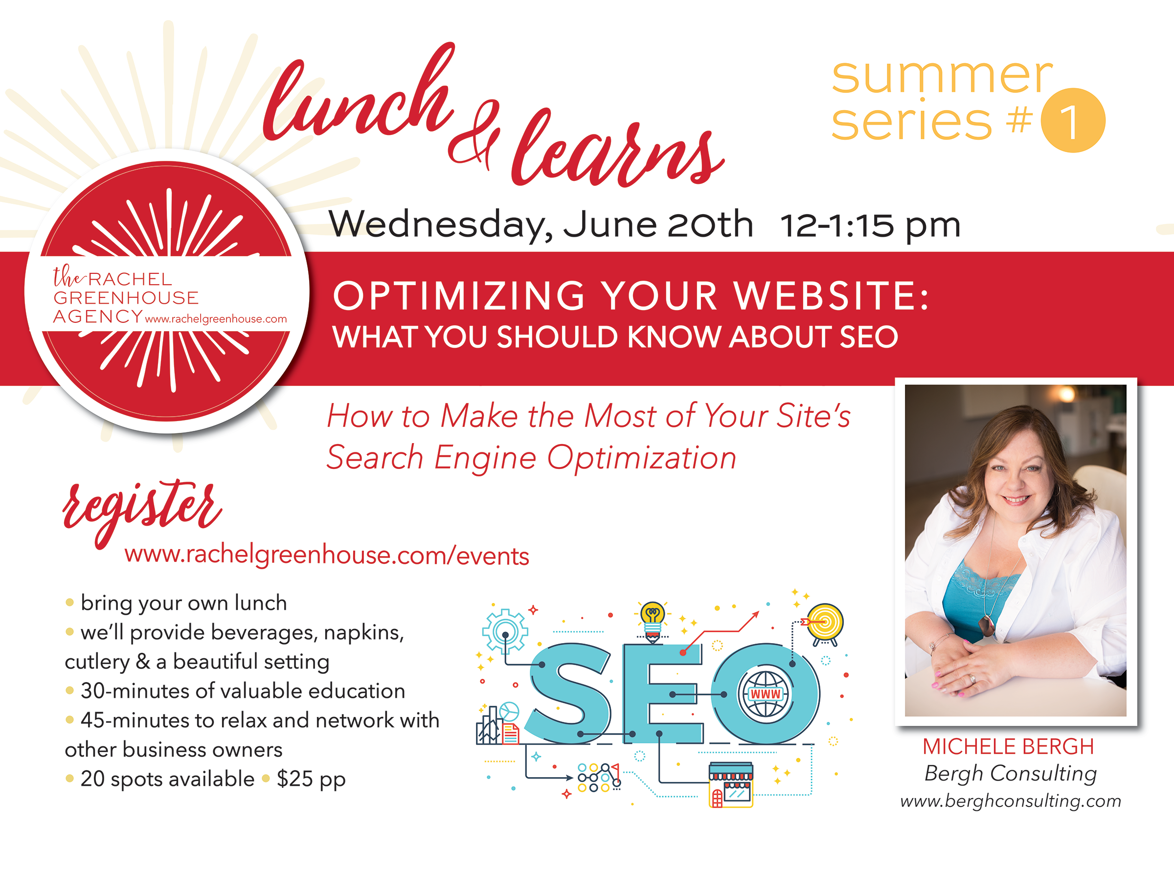 Lunch & Learn:  Optimizing Your Website @ The Rachel Greenhosue Agency