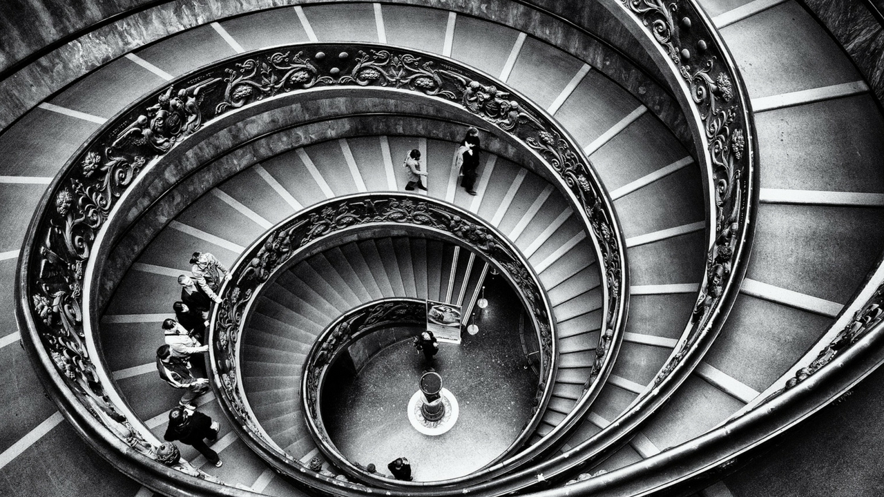 Spiral Stairs Black & White