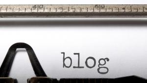word blog typed on a typewriter