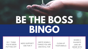 Be the boss bingo
