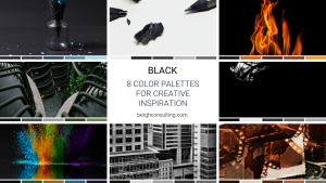 8 Black Color Palettes for Creative Inspiration